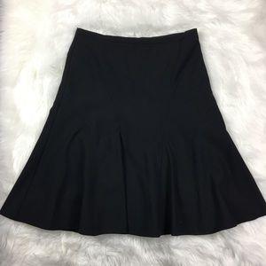 🦋 BCBGMAXAZRIA Black Wool Blend Skater Skirt Sz 6